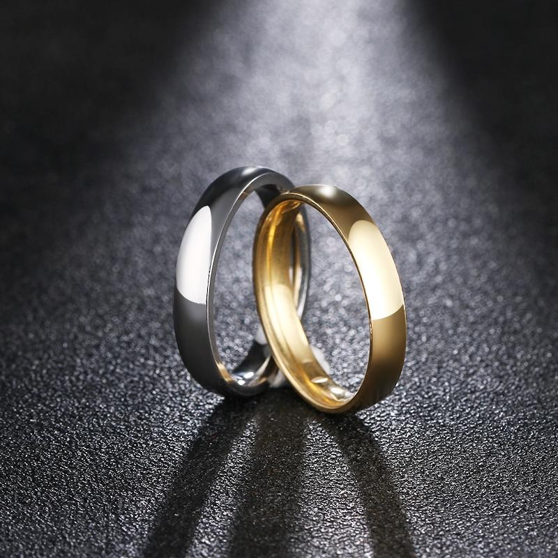 DOTIFI 316L Edelstahl Ringe Für Frauen 4mm Einfache FashionEngagement Hochzeit Ring Schmuck