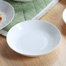White Ceramic Plate High Quality Bone China Dishes