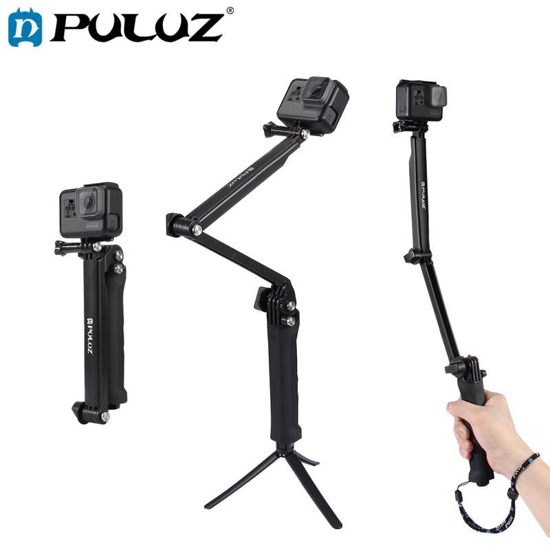 PULUZ-agarre de 3 vas párr GoPro HERO6/5 palo de Selfie multifuncional plegable...
