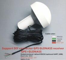 Connecteurs bricolage personnalisés   Protocoles RS232, Applications industrielles GPS GLONASS récepteur antenne NMEA 4800 fréquence Baud tension 12-24V
