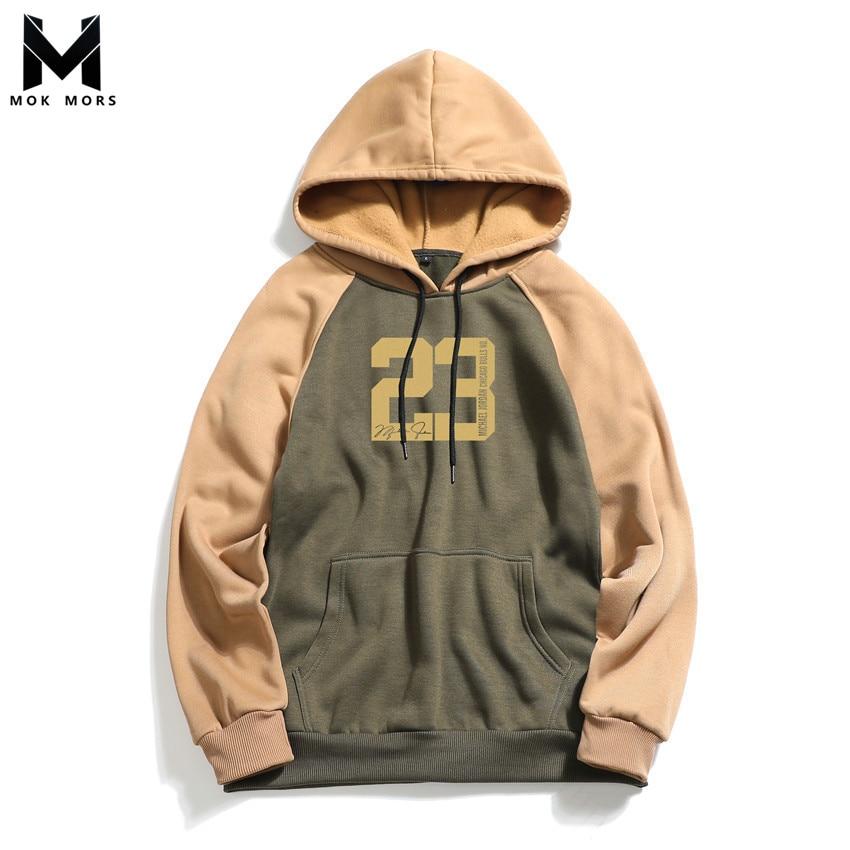 Nova moda masculina selvagem grande tamanho com capuz hoodies dos homens personalizado impressão costura algodão manga comprida hoodies moletom