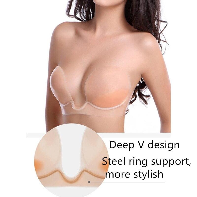 Hot Mulheres Sexy Sutiã Invisível Mama Auto-Adesivo de Silicone Sem Alças Formulário Enhancer Bra Mulher Lingerie Sutiãs Nuas