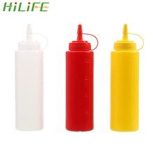 HILIFE Sauce vinaigre huile Ketchup Sauce Cruet accessoires de cuisine Sauce bateau distributeur de condiments en plastique 8oz 12oz bouteille de compression