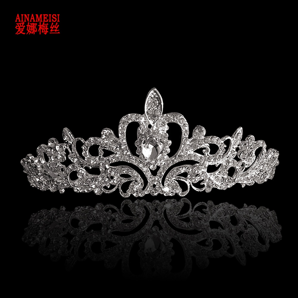 AINAMEISI New Bridal Princess Crown Headband Crystal Tiaras and Crowns HairBand Rhinestone Wedding Jewelry Hair Accessories