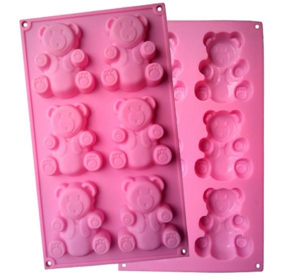 Accessoires créatifs de cuisine bricolage cuisson Cupcake   Moule à cupcakes 6 trous, bricolage savon, pouding Silicone, moule à Biscuit