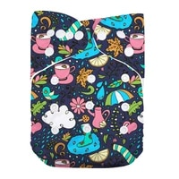 1 pc reusable washable waterproof one size baby pocket cloth diaper nappy