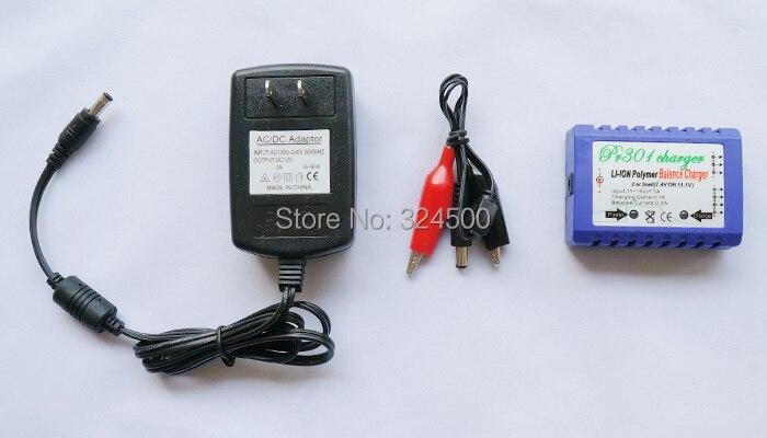 PR301 2 S 3 S 7,4 V 11,1 V batería LiPo equilibrio inteligente cargador + DC/AC adaptador