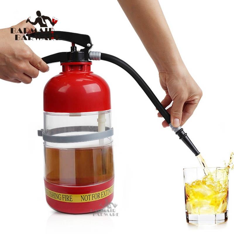 1.7 L Thirst Extinguisher Red Fire Novelty Drink Dispenser Stainless Steel Cocktail Boston Bar Shaker