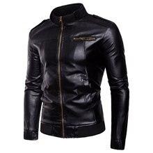 Nouveau commerce extérieur hommes vestes en cuir tendance col veste en cuir