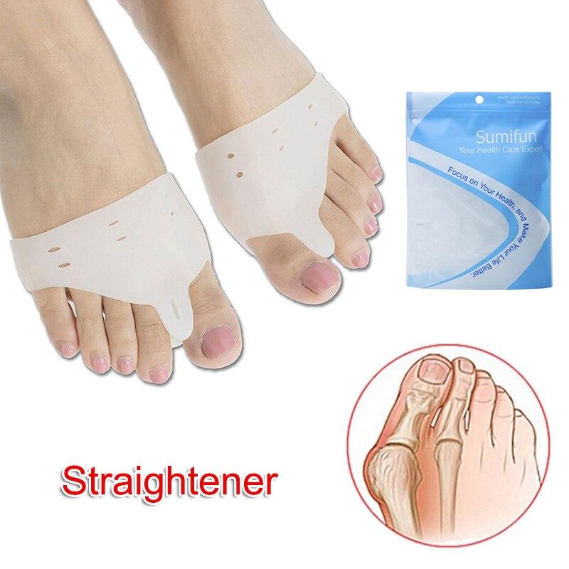 1 Pair Silicone Foot Fingers Toe Separator Tools Bunion Splint Straightener Corrector Hallux Valgus SDFA88