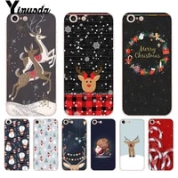 yinuoda for iphone 7 6 x case merry christmas transparent phone cover case for iphone 8 7 6 6s plus x 5 5s se xr xs xsmax