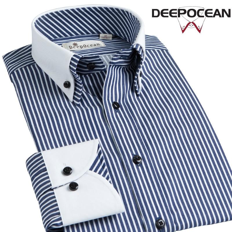 الرجال موضة قميص رسمي للأعمال مخطط الترفيه القطن الرجال قمصان طويلة الربيع فستان كاجوال قميص صالح Camisa دي Hombre قميص 25506LT