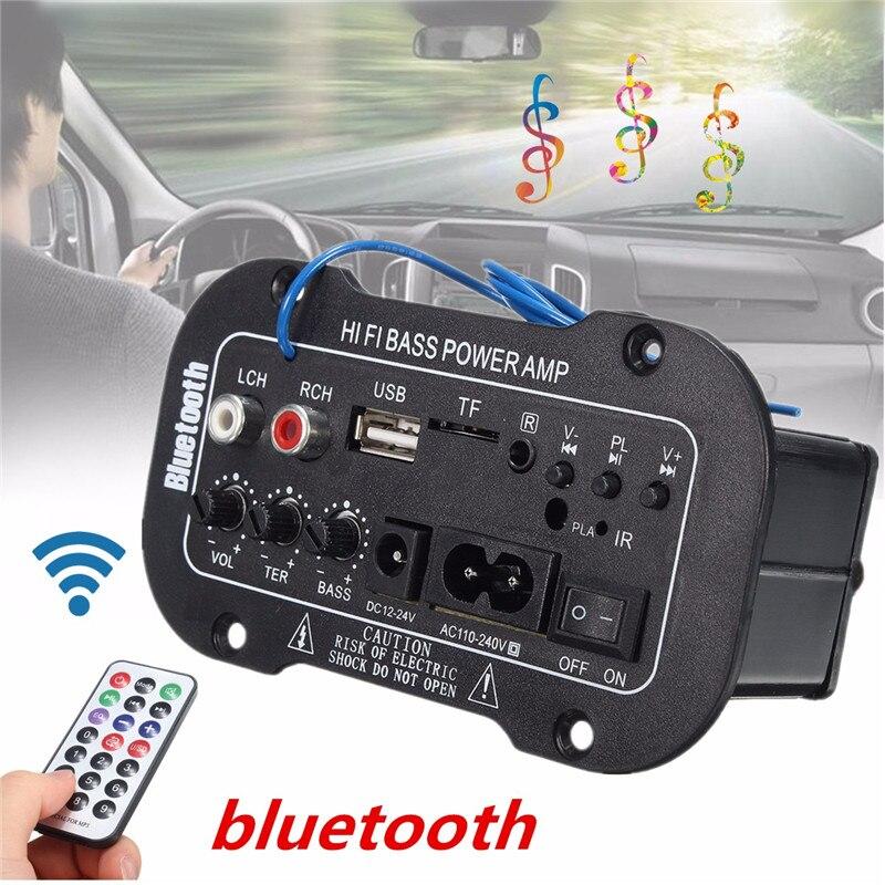 Coche 30W tablero Amplificador de Audio bluetooth Amplificador USB dac radio FM TF jugador Subwoofer amplificadores diy para la motocicleta