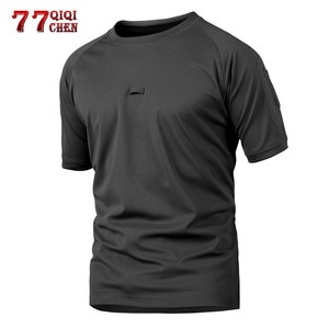 QIQICHEN 2021 Summer Tactical Camouflage T Shirt Men Quick Dry Breathable T-Shirt Casual Breathable Camo O Neck Outdoor T Shirt
