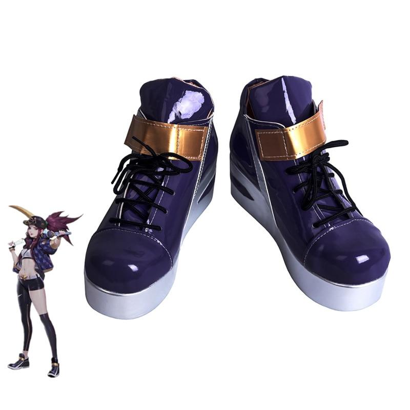 LOL KDA Akali-أحذية تنكرية للنساء ، أحذية K/DA Akali