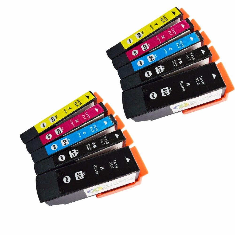 10 remanufacturados 410XL 410 XL T410XL020 cartucho de tinta Compatible expresión XP-830 XP-630 XP-530 XP-635 XP-640 impresora