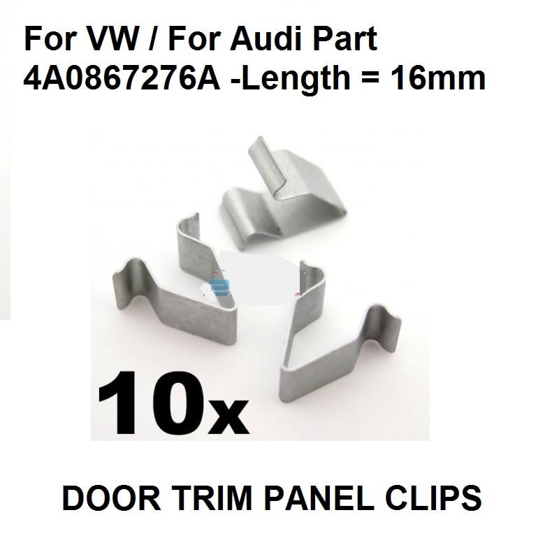 10x металлический зажим для Volkswagen, для AUDI A3 A4 A6 Boot & Trunk Lining-16 мм, OE # 4A0867276A New