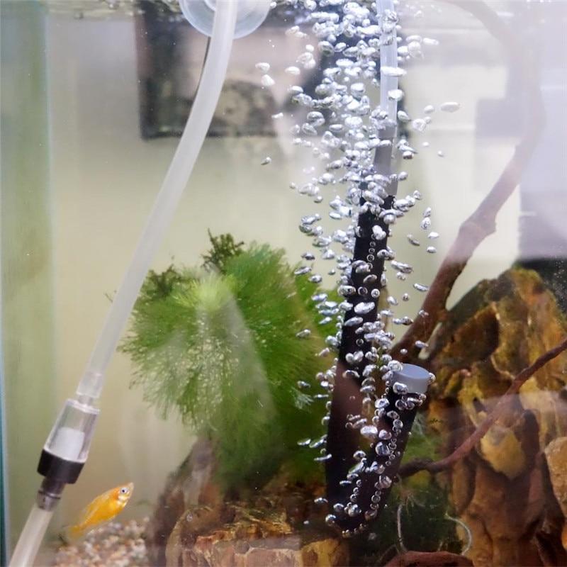 Tubo para cortina de pared de barra de Piedra difusora de burbujas de aire negro para manguera para acuarios Bomba para pecera tubo hidropónico difusor de oxígeno 20 cm/60 cm/120 cm