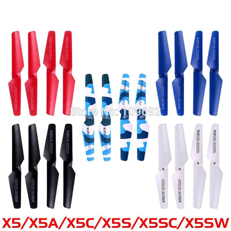 5 farben Wichtigsten Klingen SYMA X5 X5A X5C X5C-1 X5SC X5SW Propeller Sets Quadcopter RC Drone Flügel Ersatzteile Hubschrauber zubehör