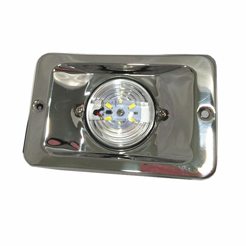 12V Marine Boat Yacht LED Navigation Light Square Stainless Steel Boat Rear Tail Lamp Waterproof white led marine boat yacht navigation light square stainless steel signal lamp waterproof dc 12v