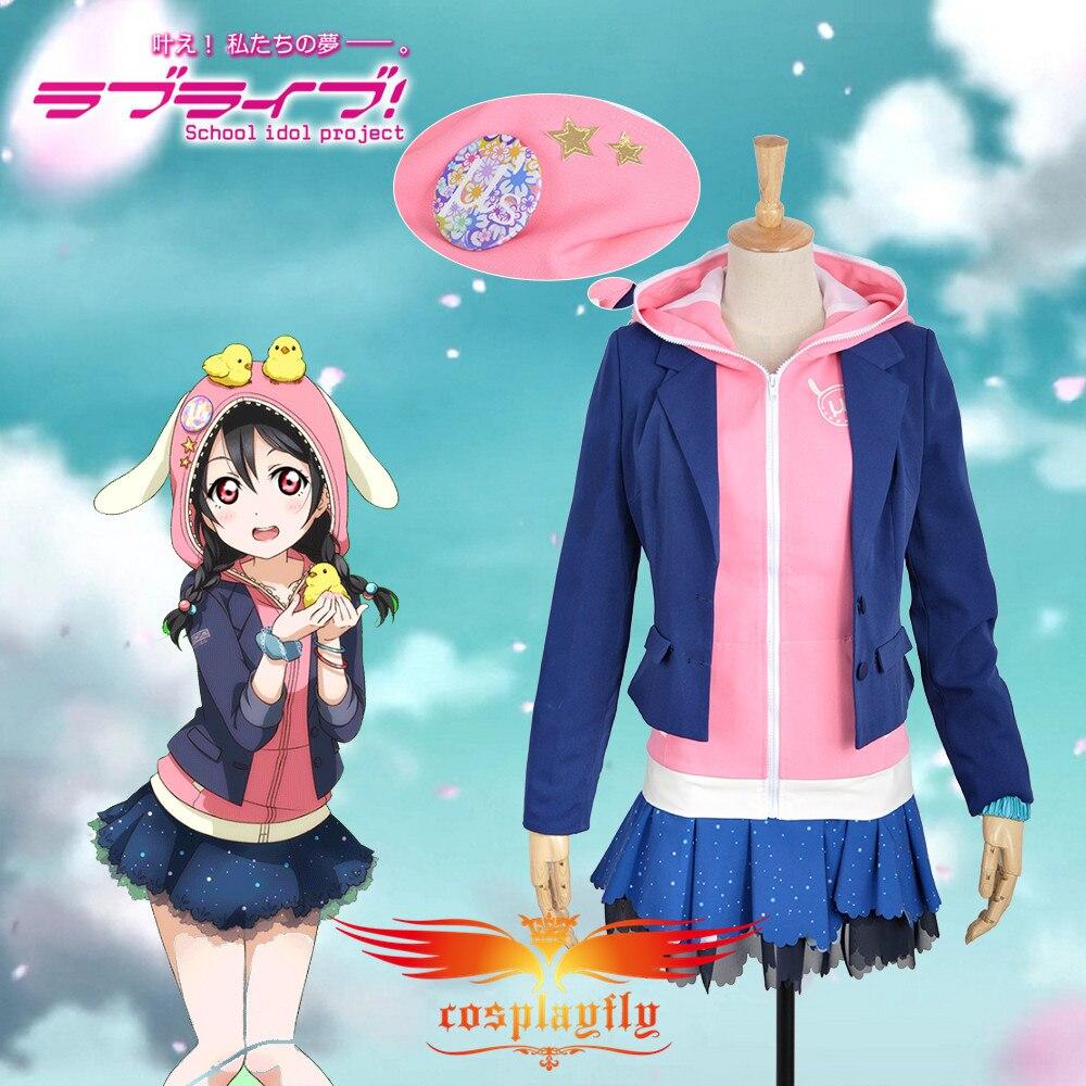 Amor. Nico Yazawa Unawakened Animal prenda deportiva disfraz de cosplay mujeres adultas Rosa Hoodies chaqueta traje ropa azul