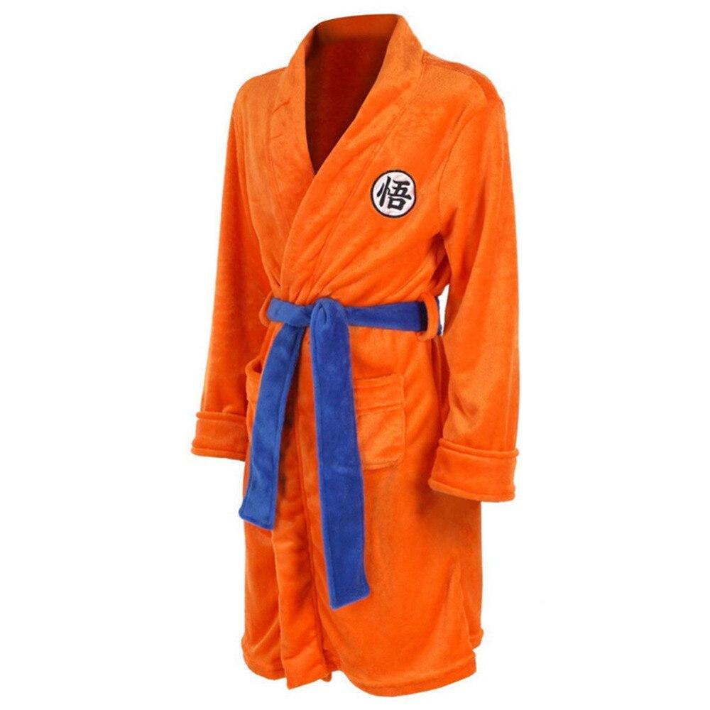 Банный халат для взрослых с драконом и шариком, банный халат Kakarotto, пижама, плюшевый халат с рисунком, высокое качество, для взрослых