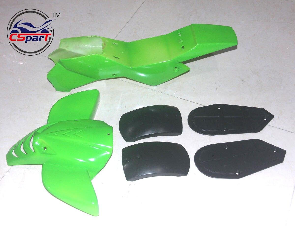 Kit de carenado de plástico, cubierta protectora de placa de guardabarros para Mini Moto Quad ATV bicicleta 47cc 49cc