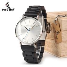 BOBO oiseau montre hommes relogio masculino bracelet en bois montres homme simplifier Quartz montres bayan kol saati OEM livraison directe
