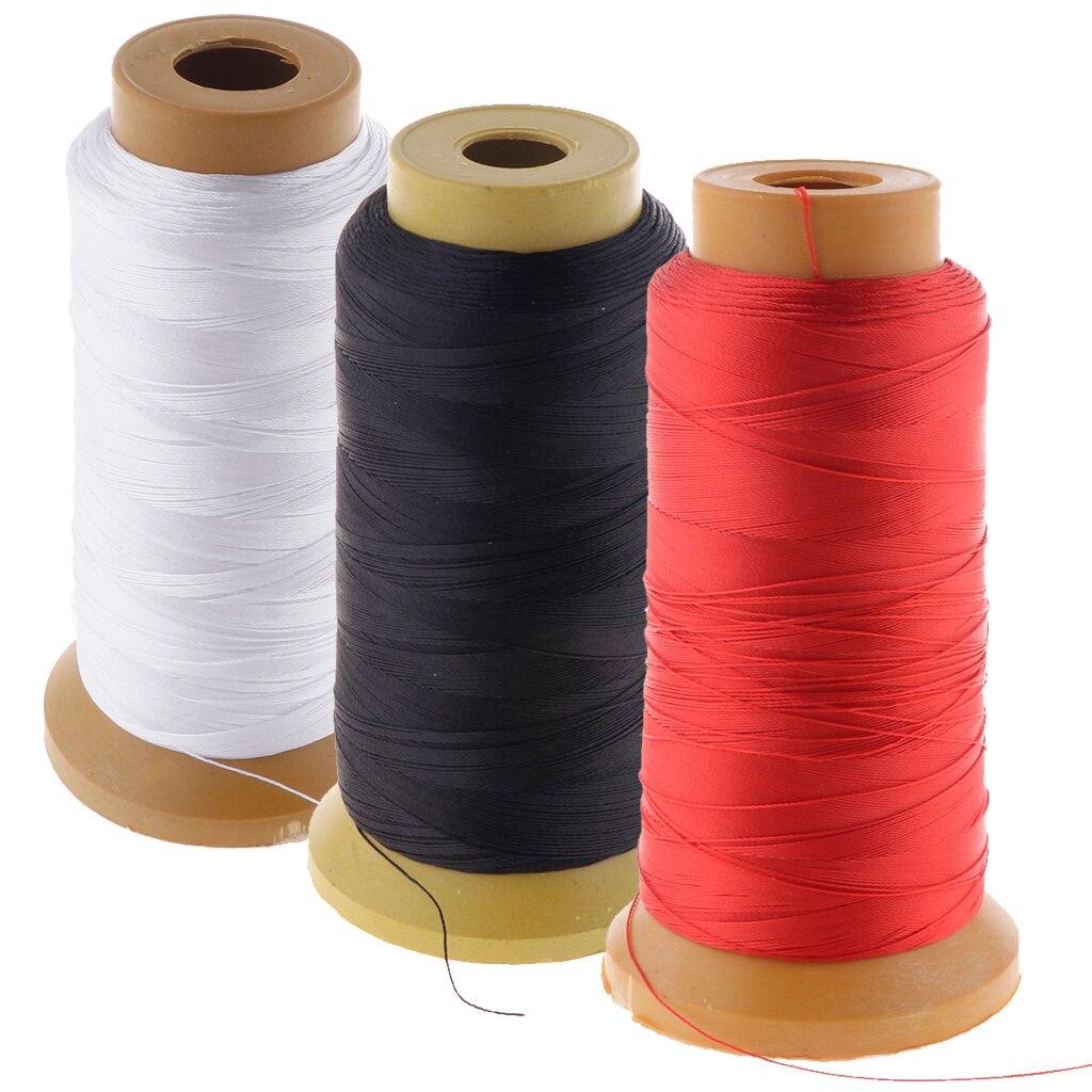 210D hilo de coser de poliéster fuerte 760M / 830 yardas cada carrete para mano DIY y máquina de coser