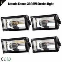 disco white light 4 dmx 512 channel atomic 3000 strobe lights kit 5600k strobe flood spotlight concert blinder xenon 3000w
