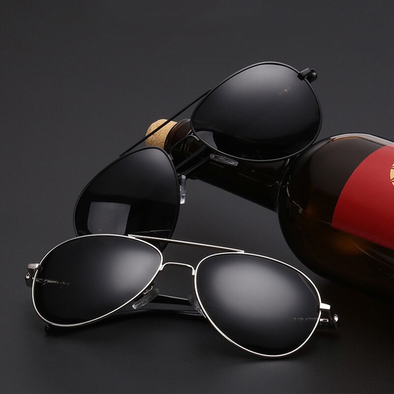 Luxury Sunglasses Men Polarized HD UV400 Pilot Aviation Driving Vintage Retro Male Sun Glasses Metal
