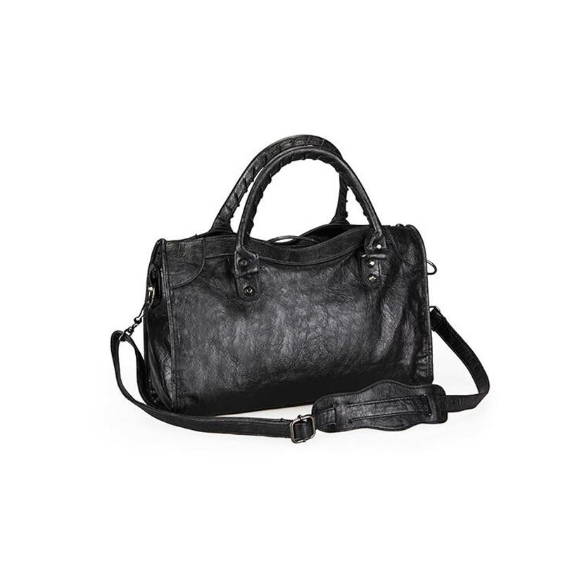 حقيبة يد فاخرة النساء حقائب مصمم لينة شرابة دراجة نارية حقيبة السيدات شيك بولي Leather جلد أنيق حقيبة كتف كروسبودي