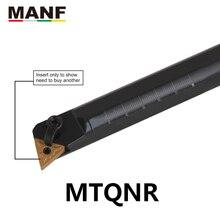 Manf ferramenta de torneamento 20mm 25mm S25S-MTQNR16 interno chato ferramenta suportes indexável grande platen aperto cnc torno cortador barra