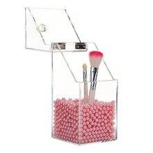 Clair acrylique maquillage Arrangement boîte de rangement conception Simple Transparent bureau support de brosse cosmétiques organisateur Case