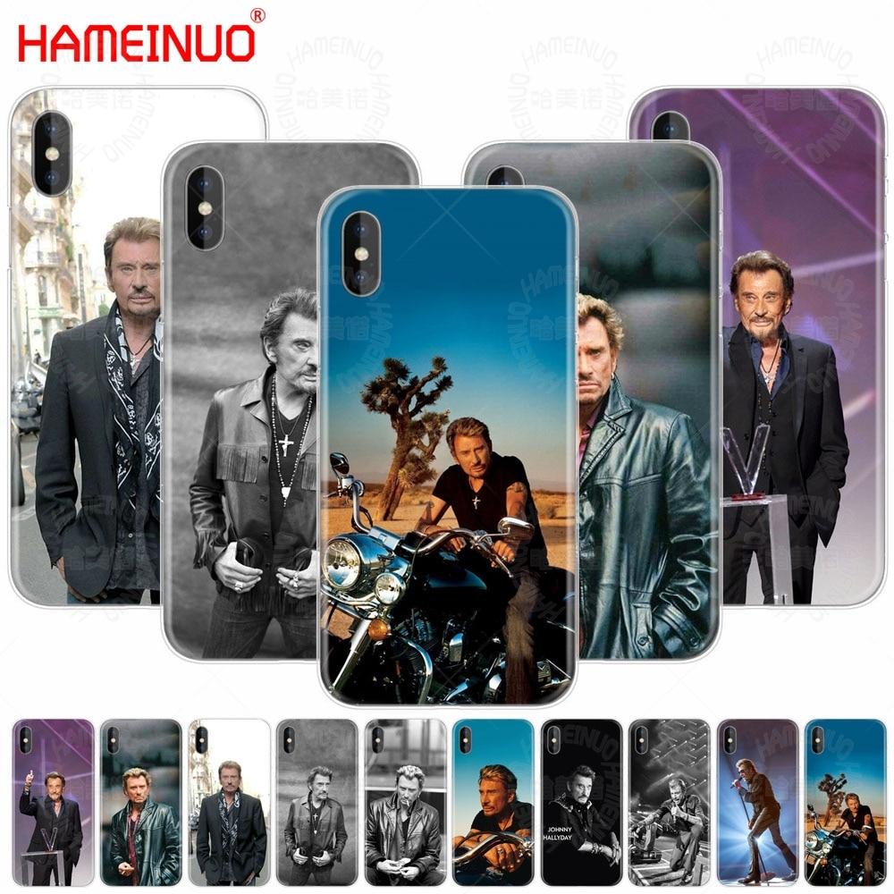 Carcasa de teléfono móvil HAMEINUO JOHNNY HALLYDAY para iphone 7 6X8 4 4S 5 5S SE 5c 6s plus
