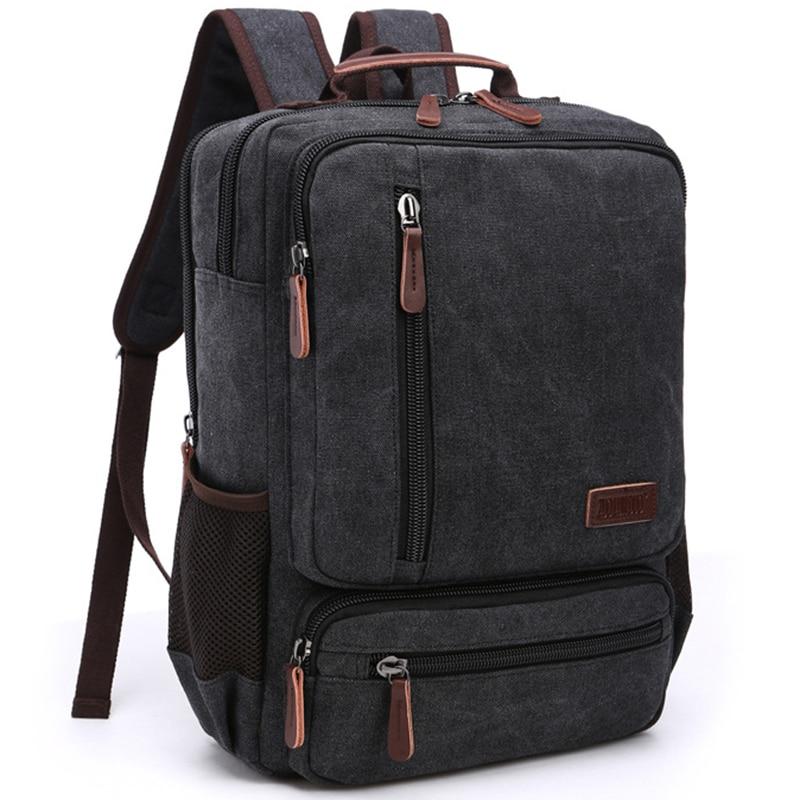 Vintage Backpack Men Back Pack Fashion Casual Canvas Women Backpacks For Teenager Shoulder Bag Rucksack Middle School Students