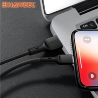 HAWEEL 1 м высокая эластичность TPE шнур 2A USB A до 8 Pin кабель для синхронизации данных зарядный кабель для iPhone XR/iPhone XS MAX другие iPhone и iPad