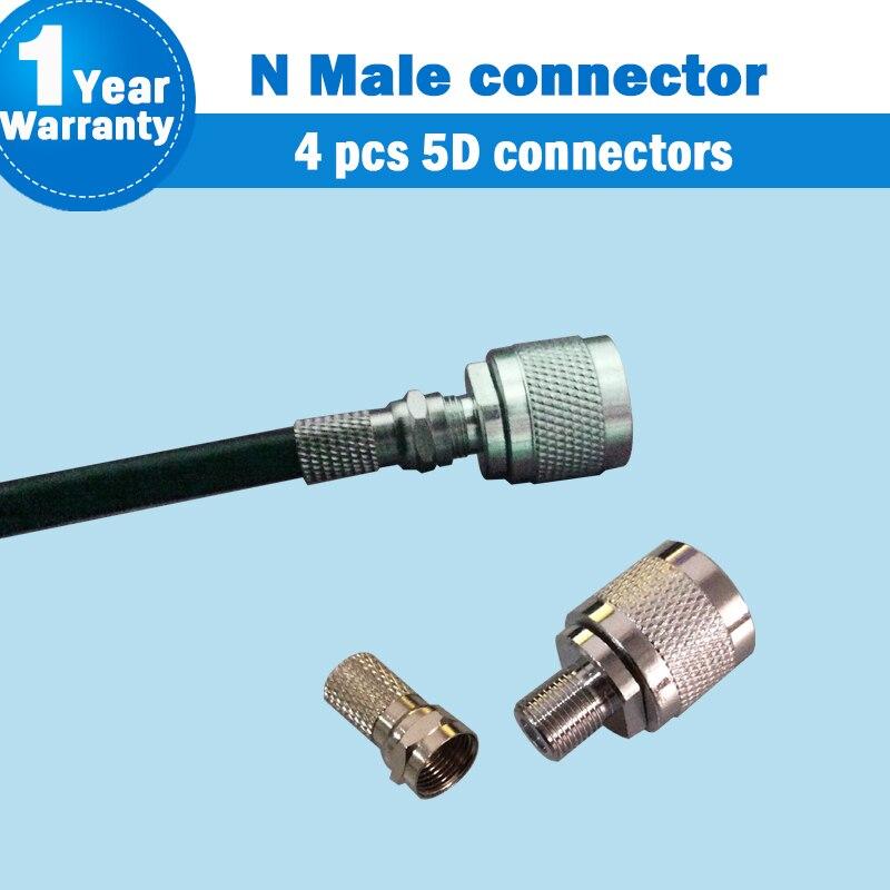 N tipo macho RG6 conector para Cable Coaxial para amplificador de señal de teléfono móvil repetidor amplificador NJ-FK + FJ-5D conector S50