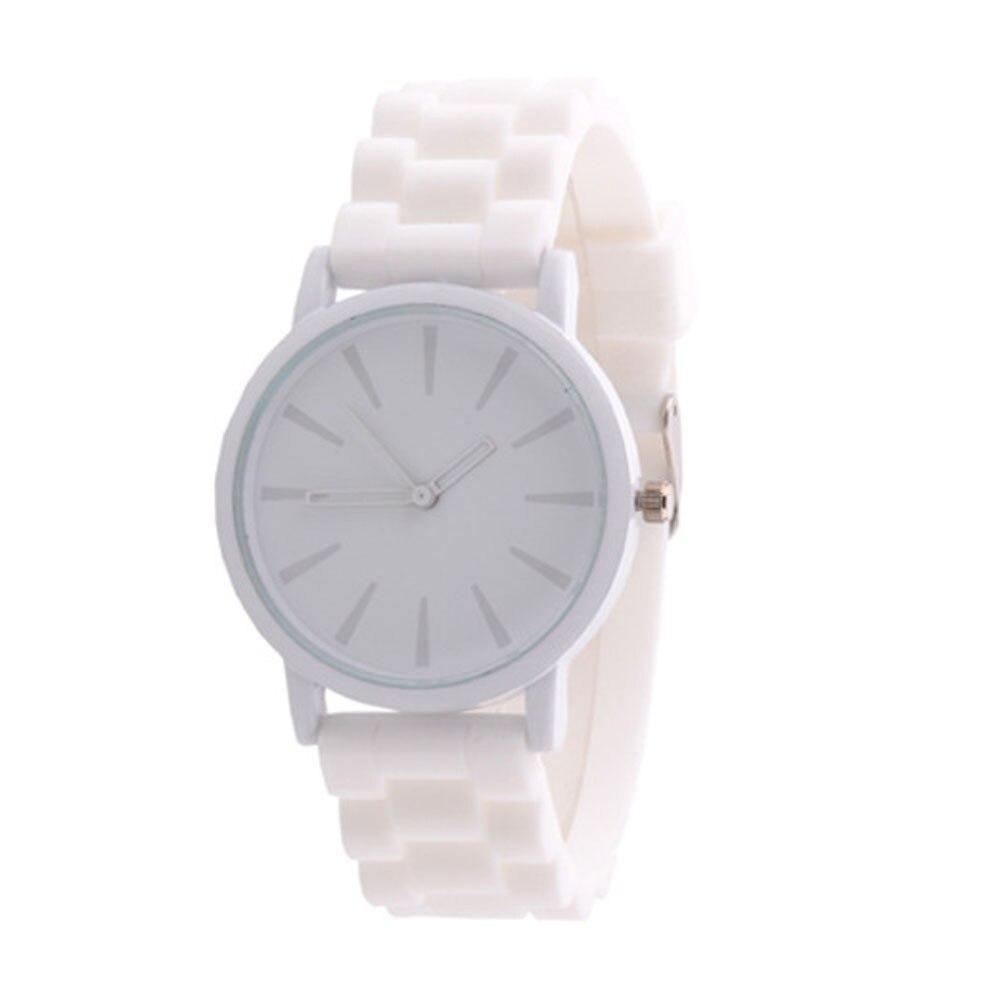 סיליקון שעונים נשים ספורט ג לי ג ל אנלוגי קוורץ שעון יד Mens יוניסקס גומי שעות שעון לבן Relogio Reloj גבירות