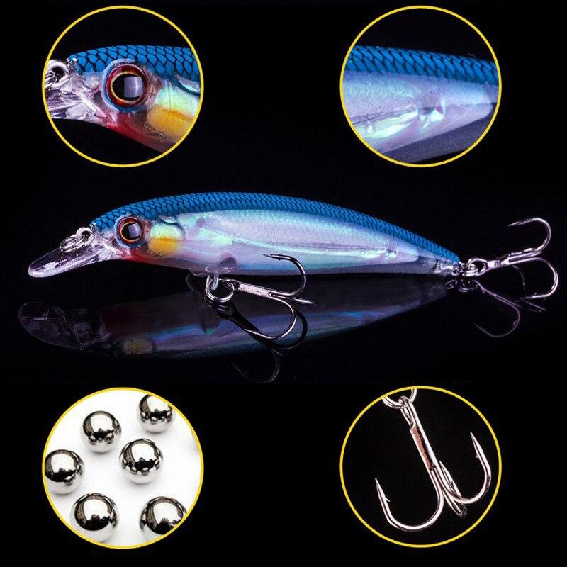 1 шт. 3D глаза 11 см 14 г светящаяся плавающая блесна рыболовная приманка Лазерная твердая искусственная приманка вольфрамовый шар воблеры кол...