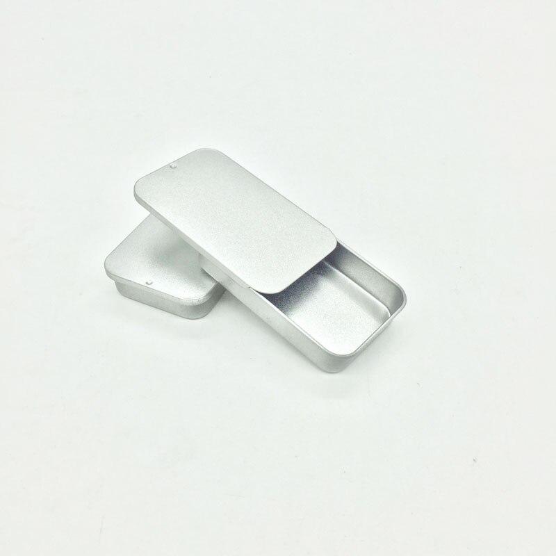 Xylitol-صندوق حديد مستطيل مع غطاء منزلق ، صندوق تخزين صغير لمجوهرات الزفاف ، علب من القصدير بالنعناع ، مجموعة جديدة