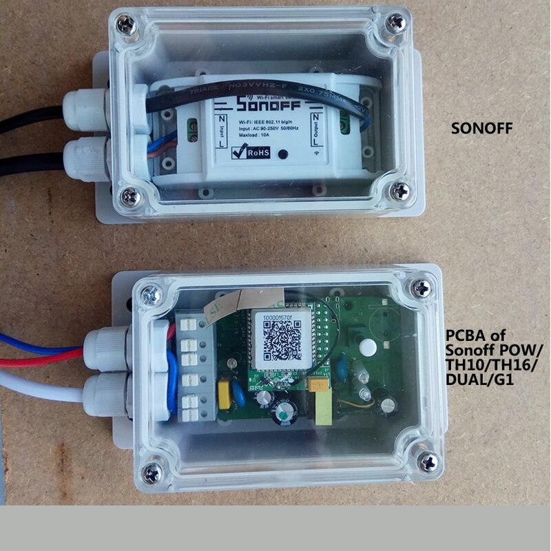 Funda para Sonoff Basic/RF/Dual/Pow/TH16/G1 Sonoff domótica inteligente domótica inalámbrica casa inteligente IP66 impermeable