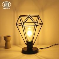 Vintage Industry Edison Bulb Table Lights Retro Iron Art Diamond Desk Lamp For Bedroom Children's Room Coffee Shop Decorate