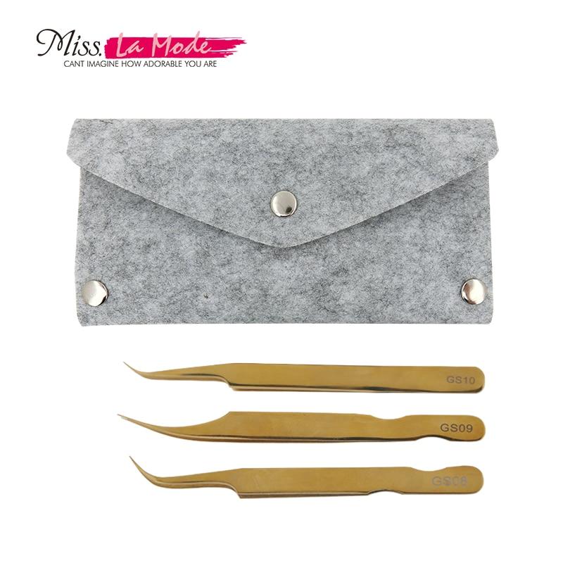GS08 09 10 with felt bags for Eyelash extension protection for eyelash tweezers Eyelash Tools