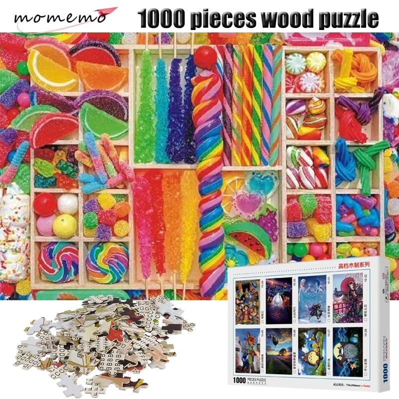 bristlegrass wooden jigsaw puzzles 500 1000 pieces ukiyoe toyohara kunichika masterpiece educational toy japanese painting decor MOMEMO Sweet Candy Puzzles for Adults 1000 Pieces Wooden Puzzle Kids Educational Toys Puzzle Games 1000 Pieces Jigsaw Puzzles