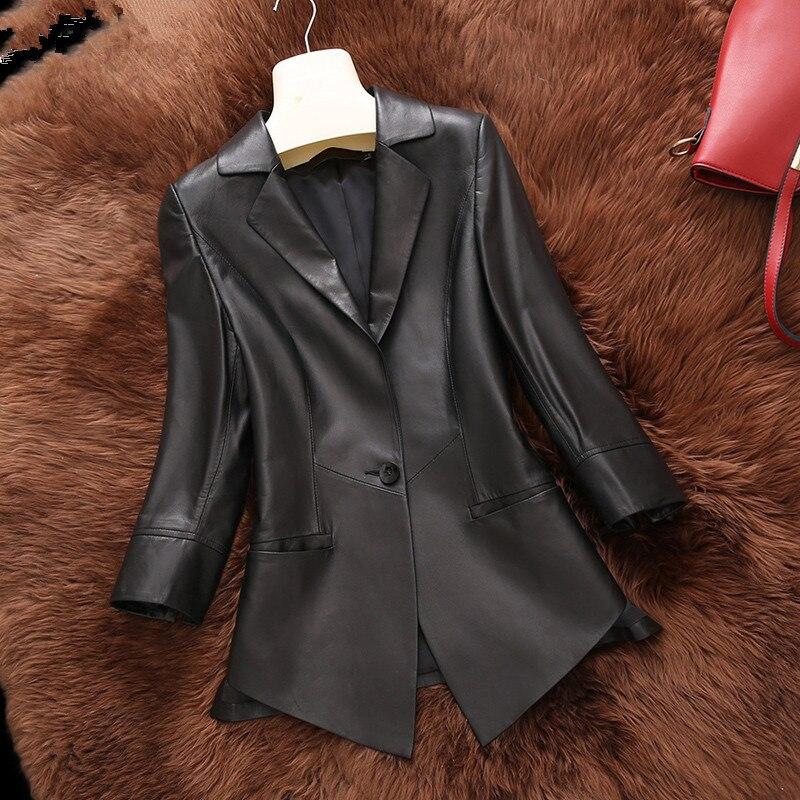 Chaqueta de piel auténtica, Chaqueta de primavera, abrigo de piel de oveja genuina para Mujer, Chaqueta de calle, ropa de Mujer 2020, Chaqueta para Mujer MY3194