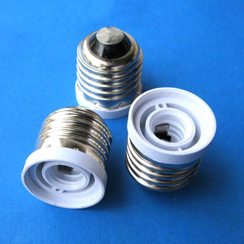 1 Uds CE & lámpara de RoHS soporte E27 a E12 Adaptador convertidor adaptador de soporte retardante de llama E12 a base de lámpara E27