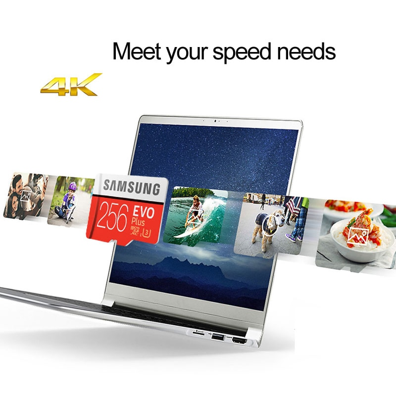 SAMSUNG Memory Card 512GB 256GB 128GB 64GB EVO Plus MicroSD U3 U1 Microsd TF Card cartao de memoria 100MB/s U3 4K HD Flash Card enlarge