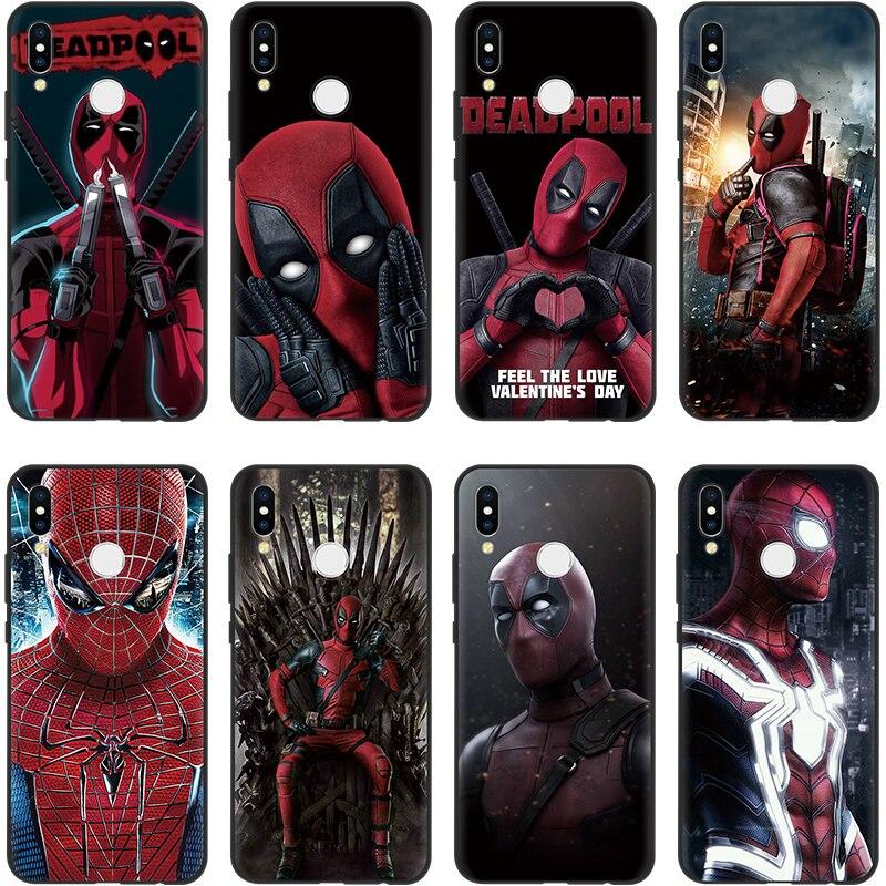 Deadpool Spiderman Coque de silicona Super héroe teléfono caso para TPU Huawei P8 P10 P20 Lite P30 Pro PSmart 2019 amigo 20 Pro caso suave