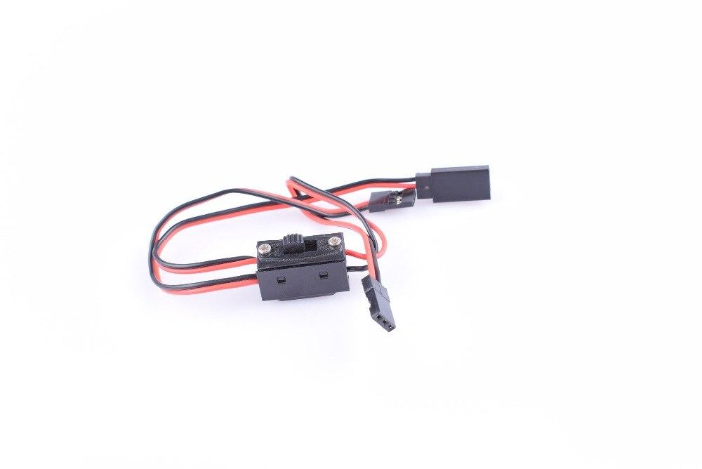 4 Uds interruptor de control remoto interruptor de encendido/apagado con cable de tres vías JR Futaba para hobby receptor RC